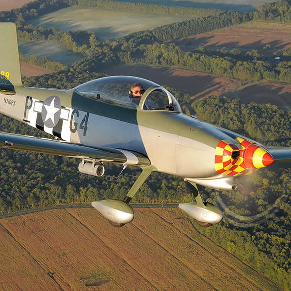 LawBreaker's Vans RV-8. Painted to honor Otto Jenkins, who was killed in March of 1944 flying for the 357th FG, 362 FS in WWII.