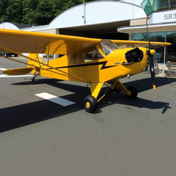 Piper Cub - Kevin, Andover Aeroflex Airpor, NJ... a stick and rudder place!